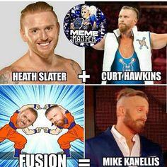 Wrestling Memes, Wrestling Superstars, Wrestling Divas, Wwe Funny, Hilarious, Curt Hawkins, Dankest Memes, Funny Memes, Wwe Raw And Smackdown