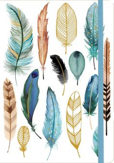 Feathers Gilded Journal - Papiermier