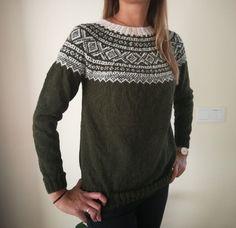 Marius genser (S/M) Khaki/naturhvit. Popular Pins, Pullover, Wool, Sweaters, Knits, Image, Fashion, Threading, Moda
