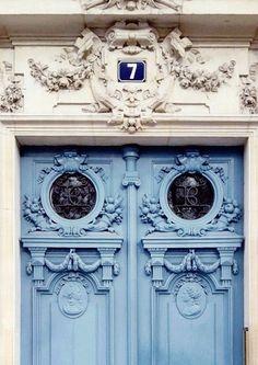 Paris doors.♥  For classic jewelry: www.etsy.com/shop/BlueDivaDesigns #bluedivagal