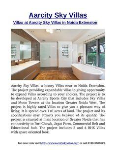 Villas at aarcity sky villas in noida extension-Aarcity Sky Villas, a luxury Villas near to Noida Extension.For  more info visit http://www.aarcityskyvillas.org/ or call  0120-3803029