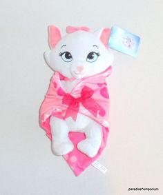 New Disney Babies Baby Marie Plush Aristocats Pink Security Blanket P41 #Disneyaristocats #disneybabies