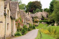 Picture of Picturesque old stone houses of Arlington Row in the village of Bibury, England stock photo, images and stock photography. Places In Europe, Places To Travel, Uk Europe, Edinburgh, The Places Youll Go, Places To Visit, Beautiful World, Beautiful Places, Arlington Row