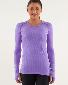 Power Purple Run: Lulu Swiftly LS Tech chevron