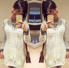 Aliexpress.com: купить зимние 2014 пышными рукавами случайные свитер женщин свитер надежные оптовых поставщиков в высокой моды Женская одежда
