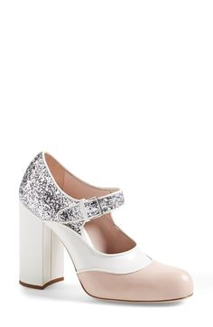 Miu+Miu+Mixed+Media+Block+Heel+Pump+(Women)+available+at+#Nordstrom