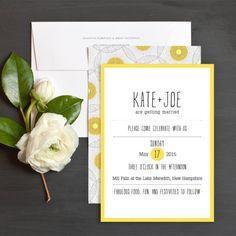 Retro Sunburst Wedding Invitations by Amy Shaffer Kuhn | Elli