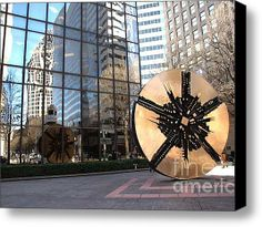 Limited Time Promotion: City Reflections - Charlotte Nc Stretched Canvas Print