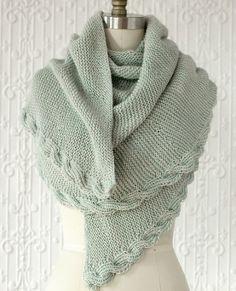 Manos Serena Calza Cable Wrap Knitting Pattern #knitting