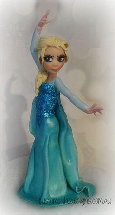 Fondant Elsa customcakedesignsoz customcakedesignsoz