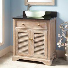 """30"""" Westerfield Vessel Sink Vanity Cabinet - Whitewash"""