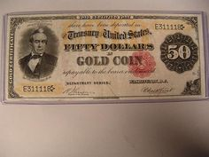 #1195: Series 1882 $50.00 Note Gold Coin - Realized Price: $6,500.00