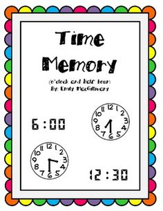 This is a super simple game, which allows your students excellent practise reading clocks to the hour and the half hour. This game contains 24 cards. Students match the analog time to the digital time. Very easy set up. Print, cut and play. Enjoy!Check out my other time games: Time Bump (:00, :30, :15, :45) 6 Different Game Boards Time Zap - A Time GameTime Slap itThis game is also available as part of a bundle: Time Bundle: Includes 4 Games (Memory, Slap it, Zap and Bump)