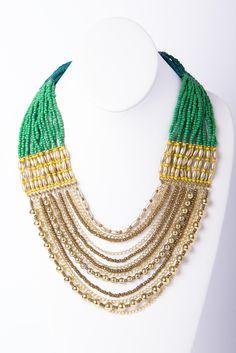 Draped Bead Necklace