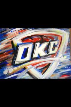 Okc thunder painting