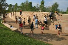 How Cumberland Park Became a Riverfront Adventure Park Urban Landscape, Landscape Design, Cumberland Park, Sport Park, Playground Design, Urban Park, Climbing Wall, Kids Climbing, Parking Design