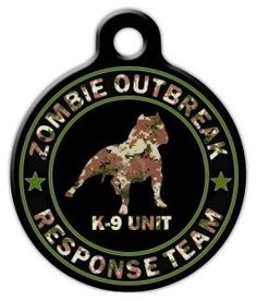 Zombie Response Unit Camo Pet ID Tag for Dogs and Cats - Dog Tag Art >>> Special dog product just for you. : Dog tags for pets Dog Tags Pet, Cat Id Tags, Cat Training Pads, Cat Shedding, Cat Fleas, Cat Accessories, Pet Id, Cat Collars, Tag Art