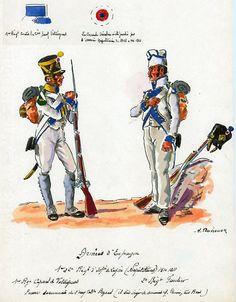 Naples; 1st Line Infantry, Voltigeurs Corporal & 2nd Line Infantry, Fusilier in Spain