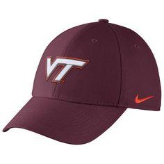 24ee5c91eba Virginia Tech Hokies Nike Swoosh Performance Flex Hat - Maroon Fitted Caps