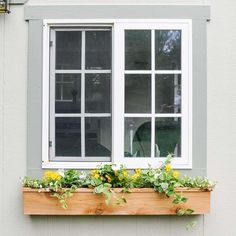 How to build an easy diy window box for cheap Adding a simple cedar window planter box to your home can add fun style and excellent curb appeal Learn to build one for und. Cedar Planter Box, Window Boxes Diy, Flower Window, Cedar Window Boxes, Modern Windows, Diy Window, Fall Window Boxes, Indoor Window, Diy Planter Box