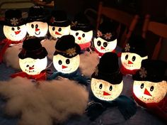 snowman crafts | Ivy Bowl Snowman Craft