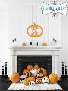 "18"" Wood Pumpkin Monogram"