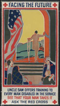 """""""Facing the Future"""" WWII Red Cross propaganda 1940s - Imgur"""