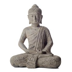 Add this beautiful cast Budda statue to your home or garden for a unique decorative touch. The statue is cast using volcanic stone and covered in a stonewashed varnish that adds a bit of elegance that helps to create a sense of peace surrounding it.