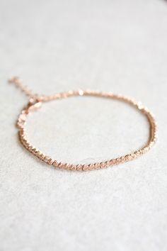 Armbänder - Roségold facettierte Perlen Armband 2mm - ein Designerstück von MyFineJewelry bei DaWanda