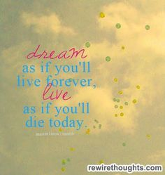 Dream And Live #quotes #inspirational