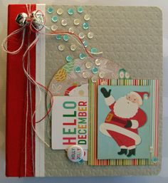 Hello Holly Jolly December~ December Daily Cover for 2013 using Studio Calico December Daily Kit and October Afternoon Very Merry Kit