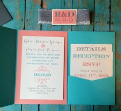 Burlap and Lace Folded Pocket Wedding by InvitationsbyErin on Etsy, $4.25