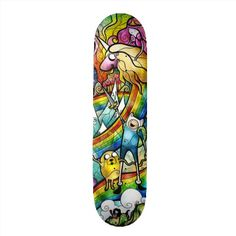 """Adventure Time skateboard by Mandie Manzano :) """"What time is it?"""""""