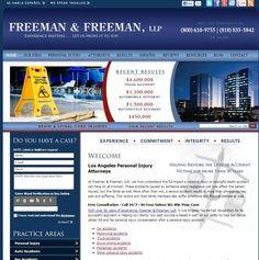 WebShark360 designed personal injury attorneys Freeman & Freeman LLP's site to be vibrant