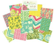 Spring House... fresh new fabric line by Stephanie Ryan. LOVE!