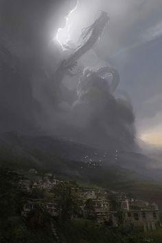 Cloud Dragon    http://theartofanimation.tumblr.com/post/29424631356/gia-nguyen-hoang
