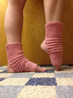 Yoga Socks in Rose Pink Cotton USGrown  for by CarrotCreations, $10.00