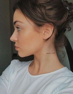 9 super cool tattoo trends that are so popular in 2019 Ecemella - minimalist . - 9 super cool tattoo trends that are so popular in 2019 Ecemella – minimalist neck tattoo idea – - Small Neck Tattoos, Side Neck Tattoo, Side Hip Tattoos, Neck Tattoos Women, Tiny Tattoos For Women, Girl Neck Tattoos, Hand Tattoos, Cool Tattoos, Awesome Tattoos