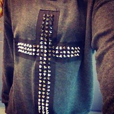 Studded Cross Sweatshirt