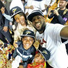 LeBron James With Wife Savannah Brinson-James & Sons LeBron James Jr. and  Bryce James