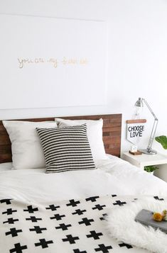 IKEA Malm bed with Stikwood adhesive wood panels / DIY / no carpentry skills needed/ Stikwood.com