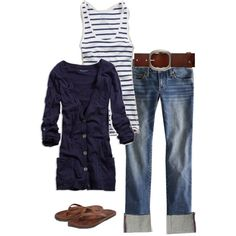 Blue white casual   # Pinterest++ for iPad #