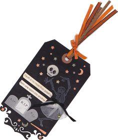 Halloween Death Tag Ornament OOAK Assemblage by twistedpixelstudio, $5.00