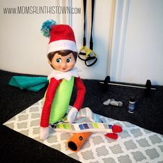 Fitsie the Elf The Elf, Elf On The Shelf, Foam Rollers, How Are You Feeling, Working Hard, Photo And Video, Holiday Decor, Shake, Flow