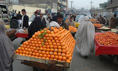 Fruits and Burqas, PESHAWAR, PAKISTAN: