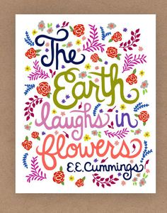11x14in EE Cummings Quote Illustration by unraveleddesign on Etsy, $35.00