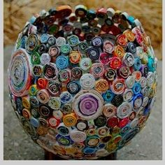 DIY Coiled Paper Vase