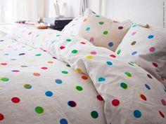 Polka dots linen via IKEA!