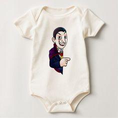 #cute #baby #bodysuits - #Cartoon Halloween Vampire Pointing at Sign Baby Bodysuit