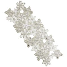 Beaded Snowflake Table Runner I Have This And Get Many